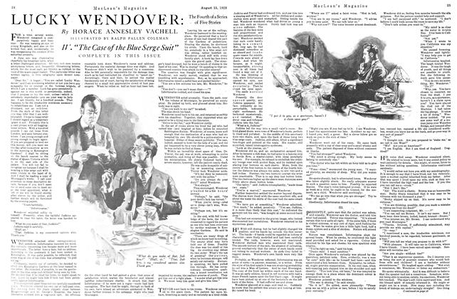 Article Preview: LUCKY WENDOVER: The Fourth of a Series of Five Stories, August 1923 | Maclean's