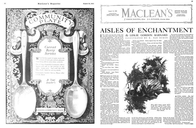 Article Preview: AISLES OF ENCHANTMENT, August 1923 | Maclean's