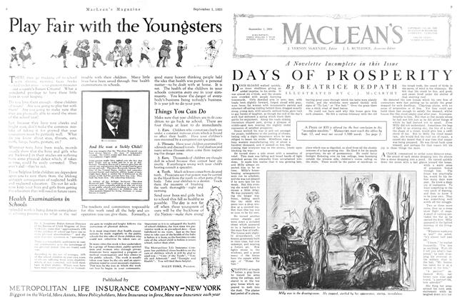 Article Preview: DAYS OF PROSPERITY, September 1923 | Maclean's