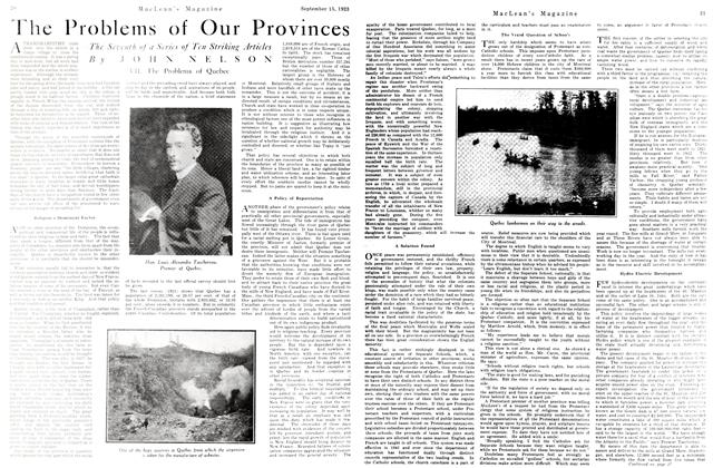 Article Preview: The Problem of Our Provinces, September 1923 | Maclean's