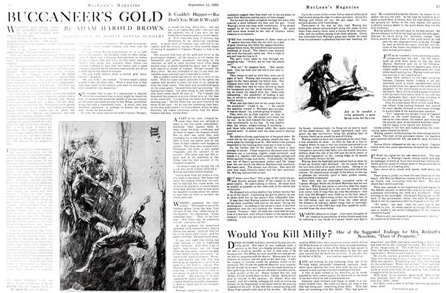 Article Preview: BUCCANEER'S GOLD, September 1923 | Maclean's