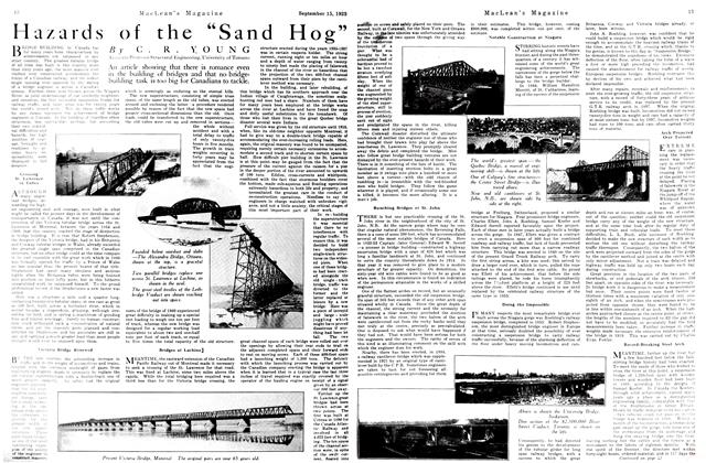 """Article Preview: Hazards of the """"Sand Hog"""", September 1923 