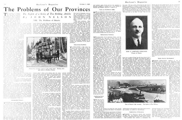 Article Preview: The Problems of Our Provinces, October 1923 | Maclean's
