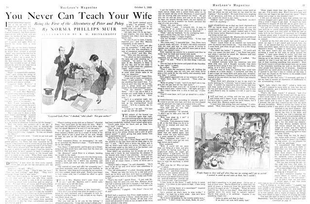 Article Preview: You Never Can Teach Your Wife, October 1923 | Maclean's