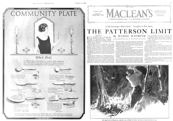 Article Preview: THE PATTERSON LIMIT, October 1923 | Maclean's