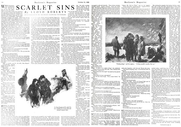 Article Preview: SCARLET SINS, October 1923 | Maclean's