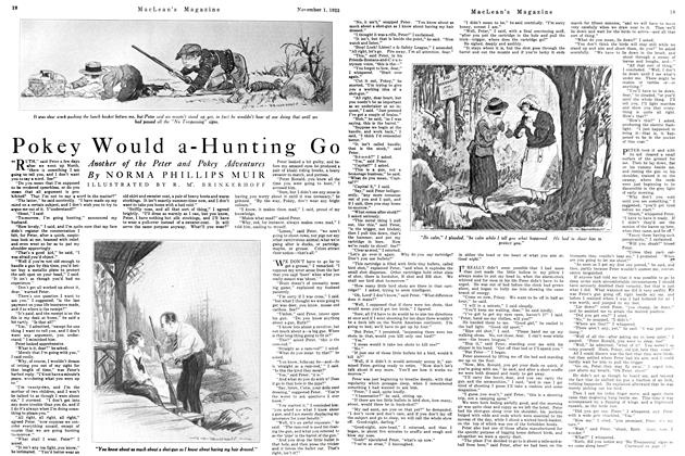 Article Preview: Pokey Would a-Hunting Go, November 1923 | Maclean's