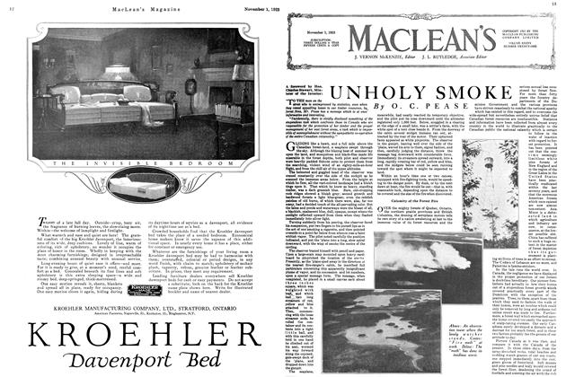 Article Preview: UNHOLY SMOKE, November 1923 | Maclean's