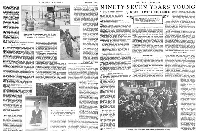 Article Preview: NINETY-SEVEN YEARS YOUNG, November 1923 | Maclean's