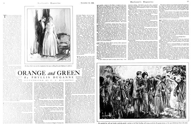 Article Preview: ORANGE and GREEN, November 1923 | Maclean's