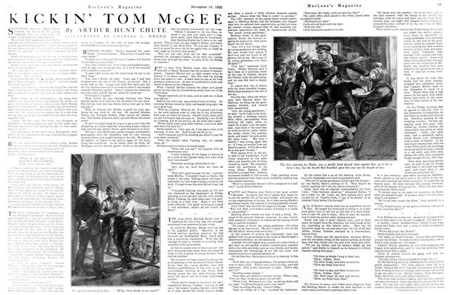 Article Preview: KICKIN' TOM McGEE, November 1923 | Maclean's