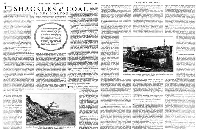 Article Preview: SHACKLES of COAL, November 1923 | Maclean's