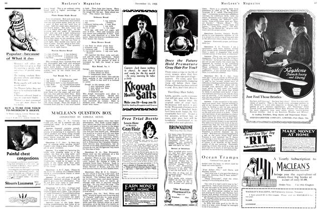 Article Preview: MACLEAN'S QUESTION BOX, November 1923 | Maclean's