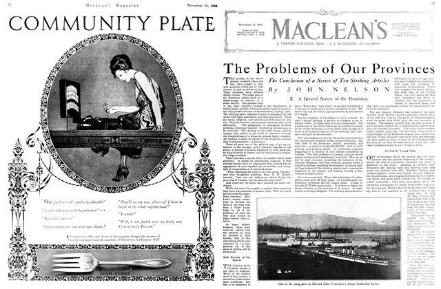 Article Preview: The Problems of Our Provinces, November 1923 | Maclean's