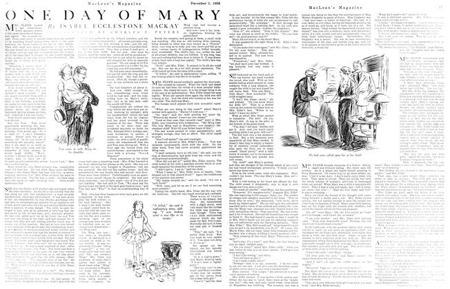 Article Preview: ONE DAY OF MARY, December 1923 | Maclean's