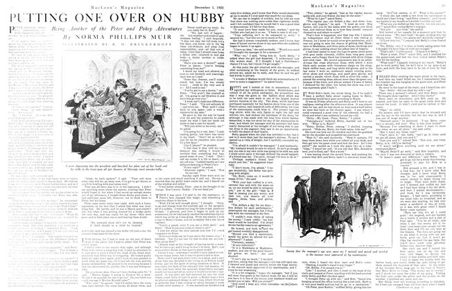Article Preview: PUTTING ONE OVER ON HUBBY, December 1923 | Maclean's