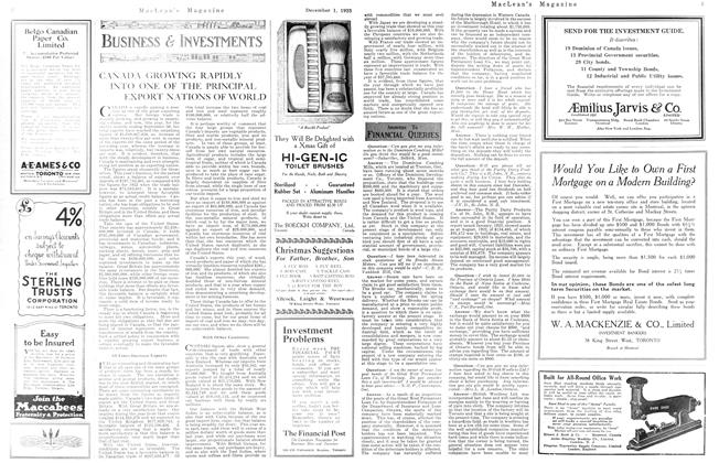 Article Preview: ANSWERS TO FINANCIAL QUERIES, December 1923 | Maclean's
