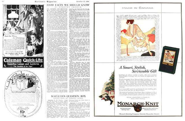 Article Preview: MACLEAN'S QUESTION BOX, December 1923 | Maclean's