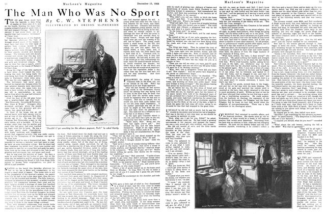 Article Preview: The Man Who Was No Sport, December 1923 | Maclean's