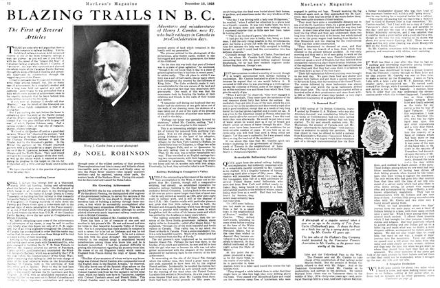 Article Preview: BLAZING TRAILS IN B. C., December 1923 | Maclean's