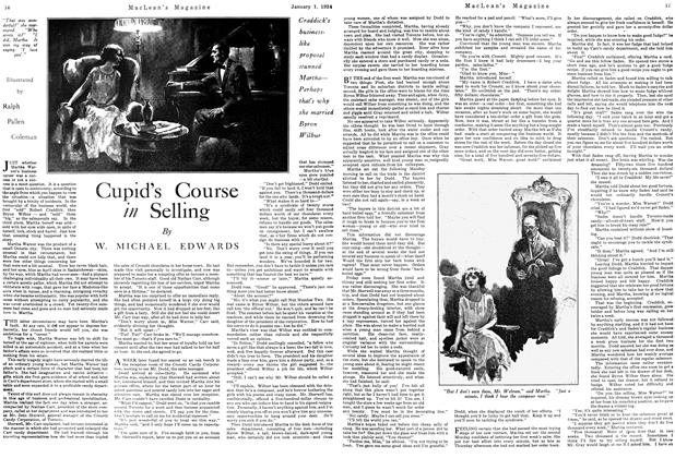 Article Preview: Cupid's Course in Selling, January 1924 | Maclean's