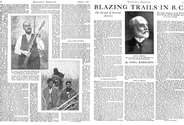 Article Preview: BLAZING TRAILS IN B. C., January 1924   Maclean's