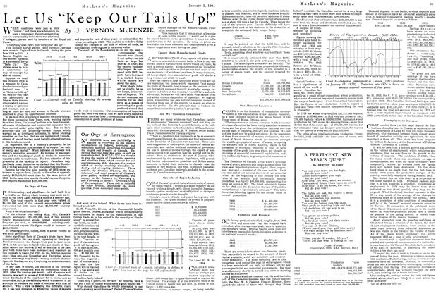 "Article Preview: Let Us ""Keep Our Tails Up!"", January 1924 