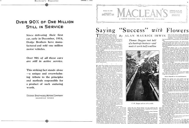 """Article Preview: Saying """"Success"""" with Flowers, January 1924 
