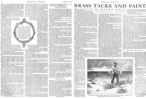 Article Preview: BRASS TACKS AND PAINT, January 1924 | Maclean's