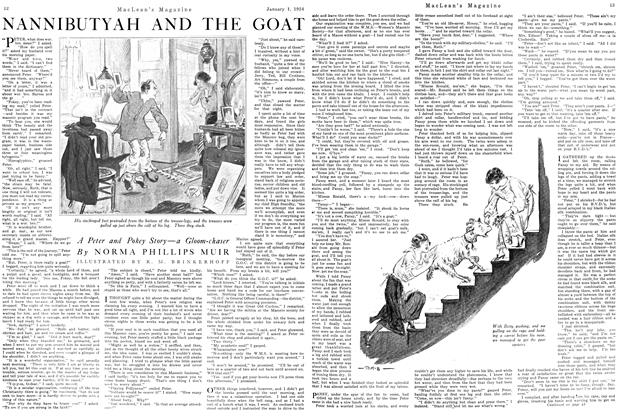 Article Preview: NANNIBUTYAH AND THE GOAT, January 1924 | Maclean's