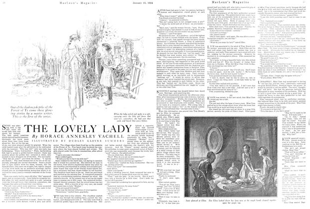 Article Preview: THE LOVELY LADY, January 1924 | Maclean's