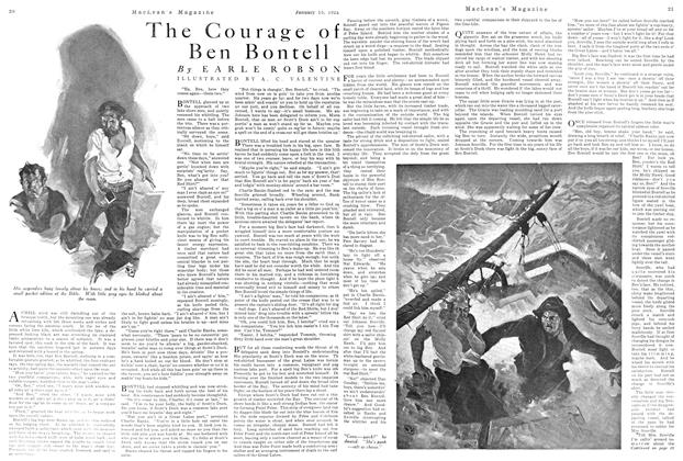 Article Preview: The Courage of Ben Bontell, January 1924 | Maclean's