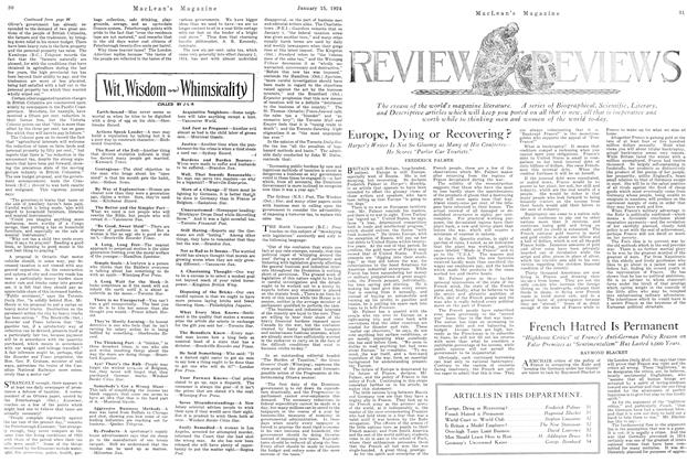 Article Preview: Europe, Dying or Recovering?, January 1924   Maclean's
