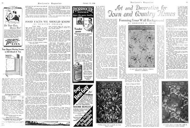 Article Preview: Art and Decoration for Town and Country Homes, January 1924 | Maclean's