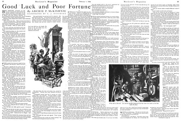 Article Preview: Good Luck and Poor Fortune, February 1924 | Maclean's