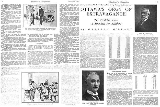 Article Preview: OTTAWA'S ORGY OF EXTRAVAGANCE, February 1924 | Maclean's