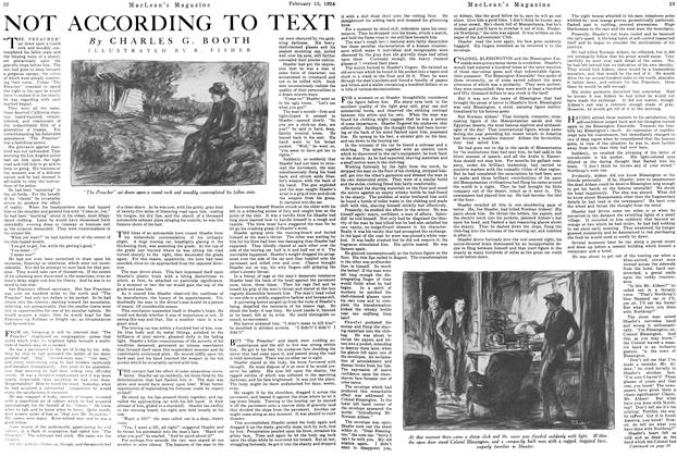 Article Preview: NOT ACCORDING TO TEXT, February 1924 | Maclean's