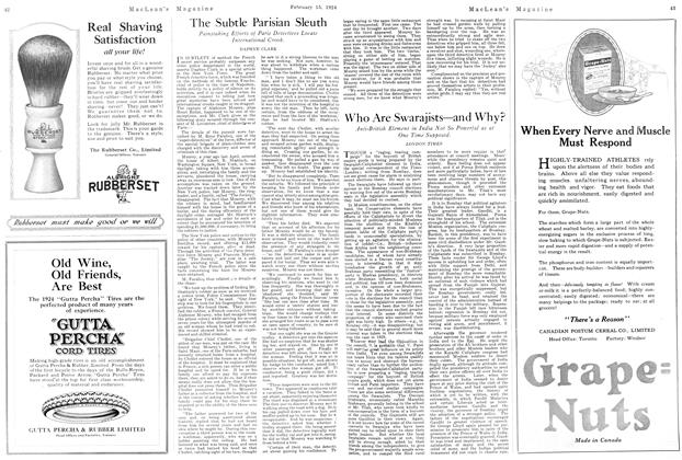 Article Preview: Who Are Swarajists—and Why?, February 1924 | Maclean's