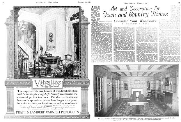 Article Preview: Art and Decoration for Town and Country Homes, February 1924 | Maclean's