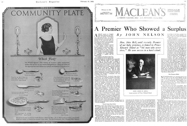 Article Preview: A Premier Who Showed a Surplus, February 1924 | Maclean's