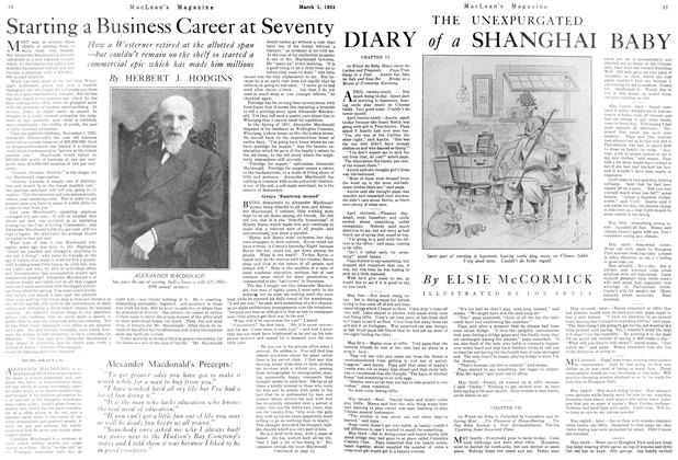 Article Preview: Starting a Business Career at Seventy, March 1924 | Maclean's