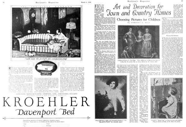Article Preview: Art and decoration for Town and Country Homes, March 1924 | Maclean's