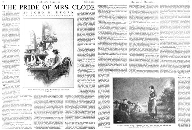 Article Preview: THE PRIDE OF MRS. CLODE, March 1924 | Maclean's