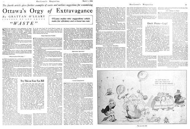 Article Preview: Ottawa's Orgy of Extravagance, March 1924 | Maclean's