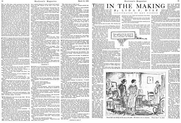 Article Preview: IN THE MAKING, March 1924   Maclean's