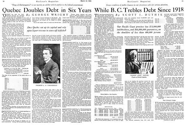 Article Preview: While B. C. Trebles Debt Since 1918, March 1924 | Maclean's