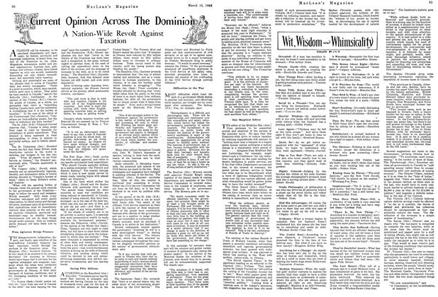 Article Preview: Current Opinion Across The Dominion, March 1924   Maclean's