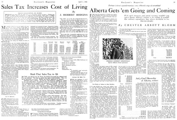 Article Preview: Sales Tax Increases Cost of Living, April 1924 | Maclean's