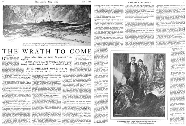 Article Preview: THE WRATH TO COME, April 1924 | Maclean's