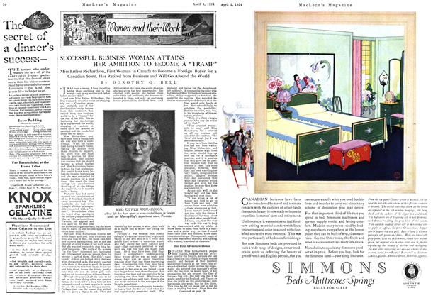 "Article Preview: SUCCESSFUL BUSINESS WOMAN ATTAINS HER AMBITION TO BECOME A ""TRAMP"", April 1924 
